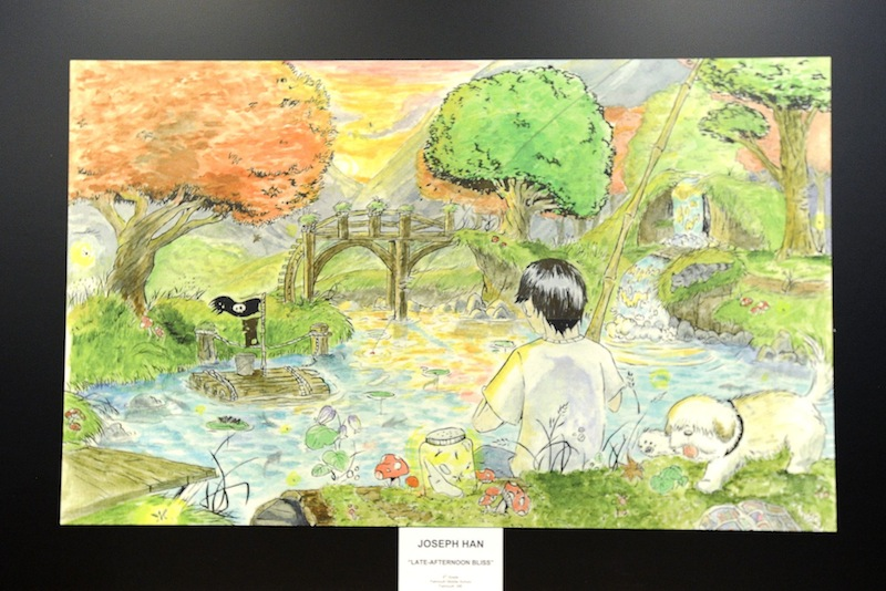 "A photo of Joseph Han's winning ""doodle,"" titled ""Late-Afternoon Bliss."""