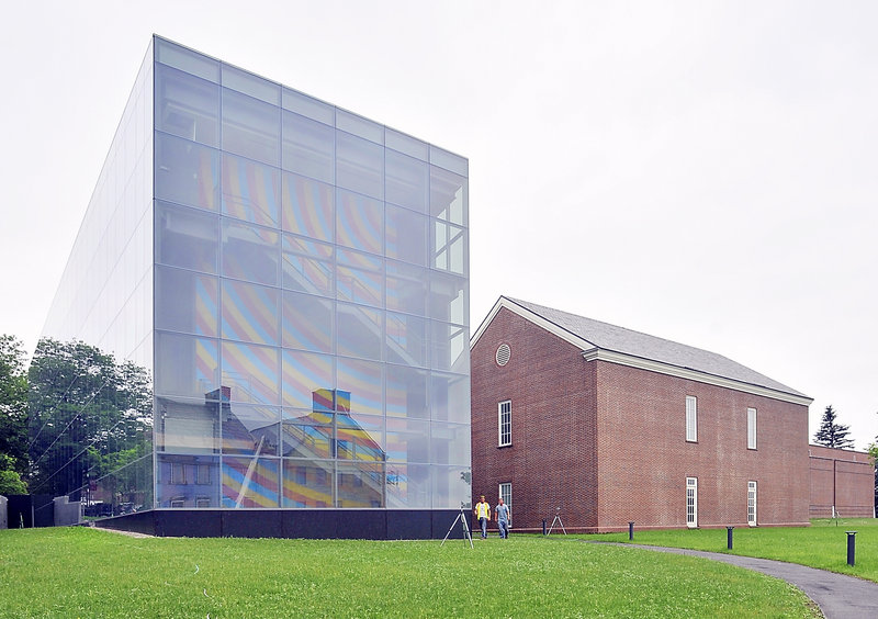 Colby College's $15 million Alfond-Lunder Family Pavilion, left, opened in 2013, making the Colby College Museum of Art the largest museum in Maine.