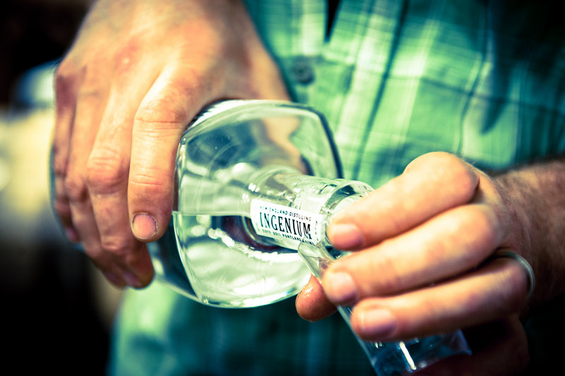 Ingenium gin, made by New England Distilling in Portland.