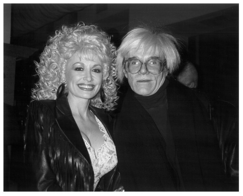 Andy Warhol with Dolly Parton ...