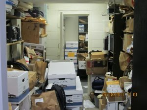 The evidence room in the current police station. COURTESY OF BRUNSWICK POLICE DEPARTMENT