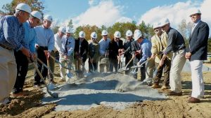 GROUND is broken Thursday at The Highlands in Topsham for a new Mid Coast Medical Group medical office.