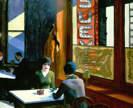 """Many art historians believe the restaurant was the setting for the Edward Hopper painting """"Chop Suey"""" (1929), based on the fact that Hopper and his wife summer in Cape Elizabeth from 1927 to '29."""