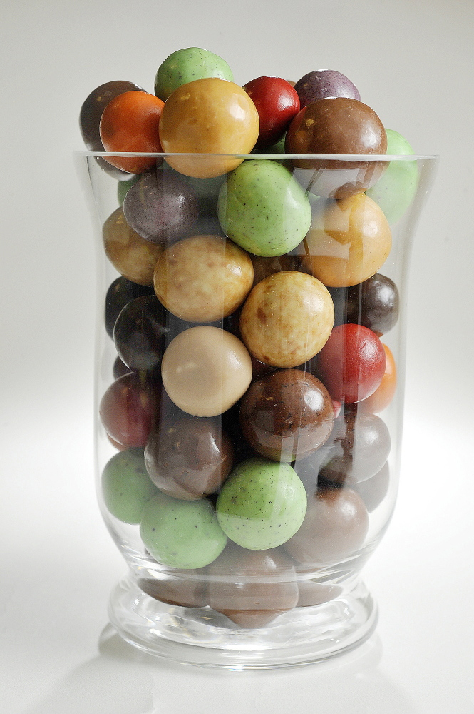 The Harbor Candy Shop in Ogunquit sells malted milk balls in a variety of flavors, including raspberry, mint chip, peanut butter, blueberry and, of course, milk and dark chocolate.