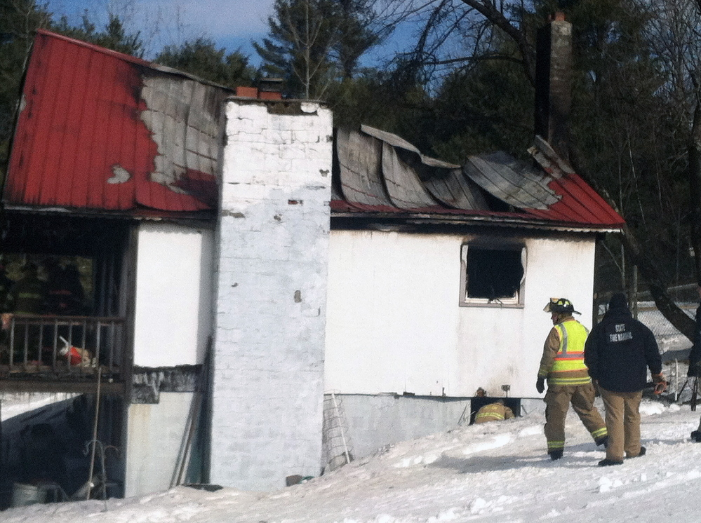 A Friday fire destroyed this 2 -story home in Acton.
