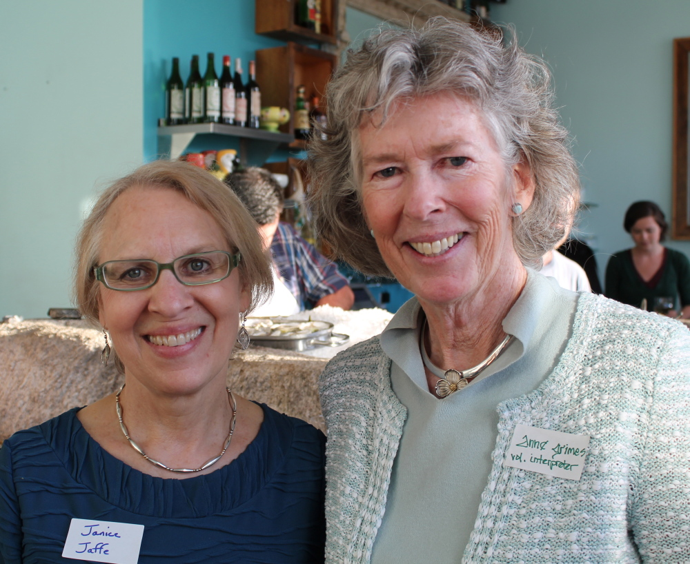 Janice Jaffe, left, director for interpreting and translation, and board member and volunteer interpreter Anne Grimes