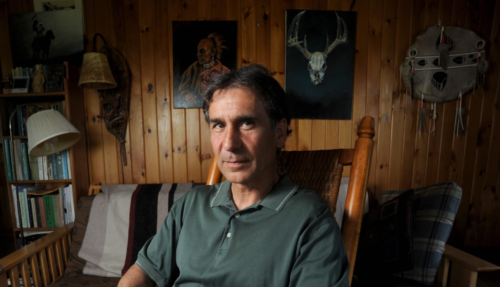 Barry Dana of Solon, a former chief of Maine's Penobscot Nation, says American Indian nicknames may have good intentions, but the end result is they perpetuate a stereotype. Michael G. Seamans/Morning Sentinel