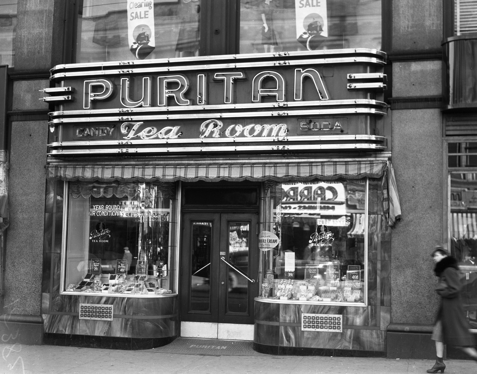 The Puritan Tea Room 1940 Portland Press Herald