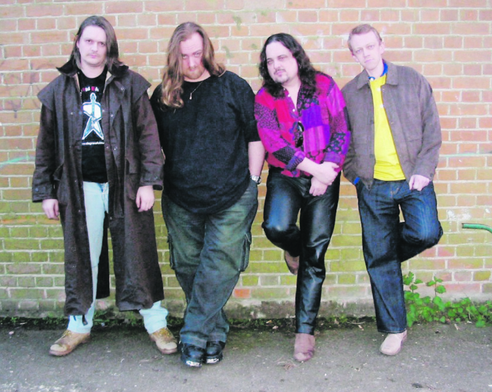 "Dodge with his band. ""Music was how he relaxed,"" Kim Dodge said."