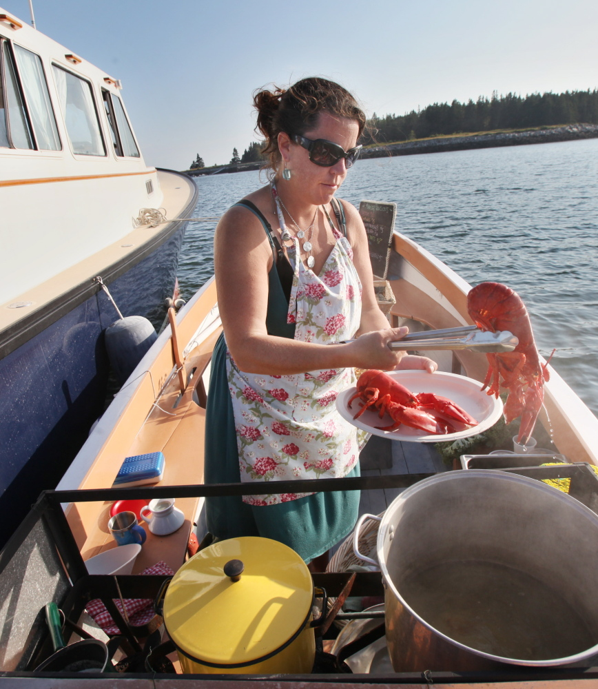 Reilly Harvey will be selling her lobsters in Penobscot Bay after the state swiftly processed her application for a mobile vendor license.