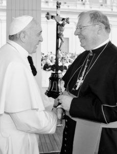 ON WEDNESDAY, SEPT. 10, Bishop Robert P. Deeley, Bishop of the Diocese of Portland, visited with Pope Francis at the Vatican.