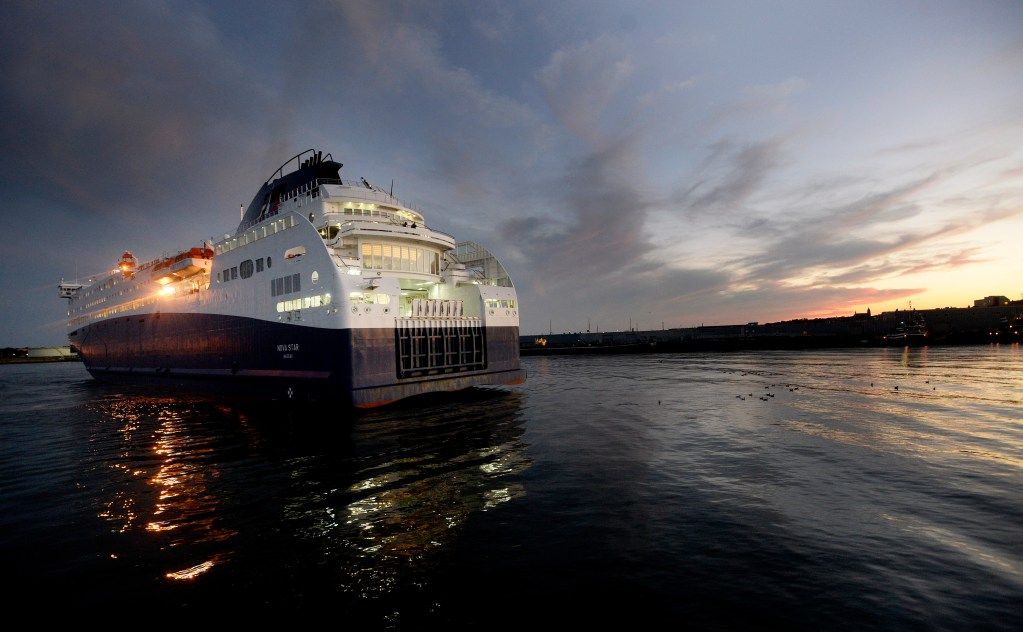 The Nova Star, seen arriving in Portland on Monday evening, will end its cruise season on Columbus Day, nearly three weeks earlier than originally scheduled. Shawn Patrick Ouellette / Staff Photographer
