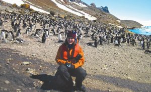 BRUNSWICK RESIDENT Kalyn LeBlanc is shown during her recent trip to Antarctica.