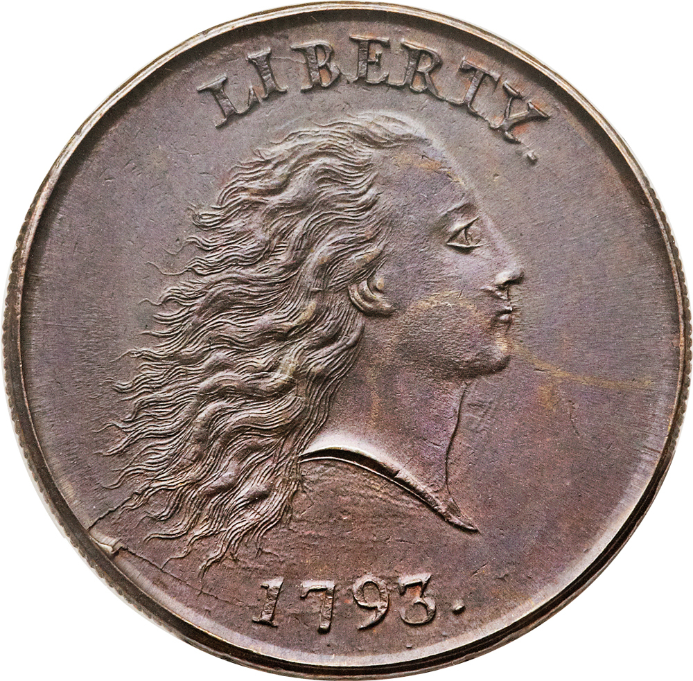 "The ""chain cent"" dates from 1793."