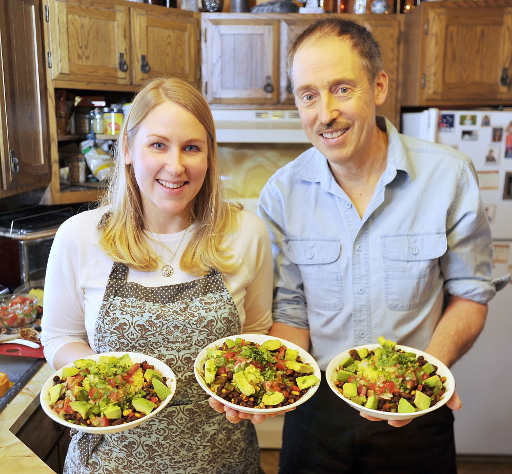 Heather and Tom Meehan of Durham began eating a plant-based, vegan diet about a year and a half ago to help fight Tom's heart disease.
