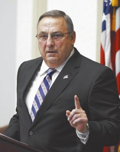 "GOV. PAUL LEPAGE delivers his State of the State address to the Legislature on Tuesday night at the Statehouse in Augusta. The governor spent the bulk of his roughly hour-long speech on the budget, which he said would ""drive prosperity for years to come. It looks past the next election and focuses on the next generation."""
