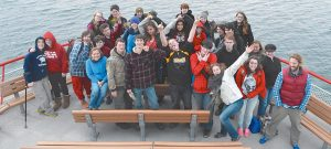 STUDENTS FROM Harpswell Coastal Academy are shown during a 2014 outing.