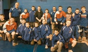 MT. ARARAT MIDDLE SCHOOL competed in the West Regional Wrestling Tournament on Saturday at Mountain Valley High School. The Eagles took home second place, with three wrestlers capturing first place in their respective weight classes. They will compete in the state championships this upcoming weekend.