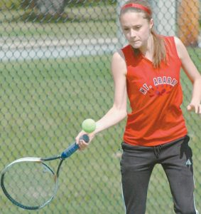 MT. ARARAT TENNIS player Christine Levesque and her Eagles open their 2015 KVAC regular season today at home against Bangor.