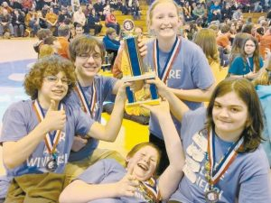A team from Morse High School — whose members include Alex Gates, Keel Thibodeau, Nick Pooler, Bryce Condon, and Hannah Gates— has qualified for the Odyssey of the Mind World Finals. The world competition will take place at Michigan State University in East Lansing, Michigan, from May 19-24.