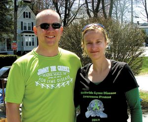 May is Lyme Disease Awareness MonthHealthy Living will look at what life is like for one Bath family living with chronic Lyme disease. Read about Angèle Rice's story in the May edition. Here she is with her husband, Jonathan Rice, in 2013.