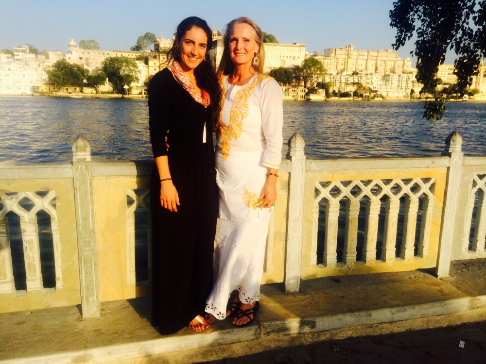 Yasmine Habash, left, with her mother Dawn Habash,  in India. Dawn Habash has not been heard from since an earthquake in Nepal killed more than 8,000 in April. Contributed photo