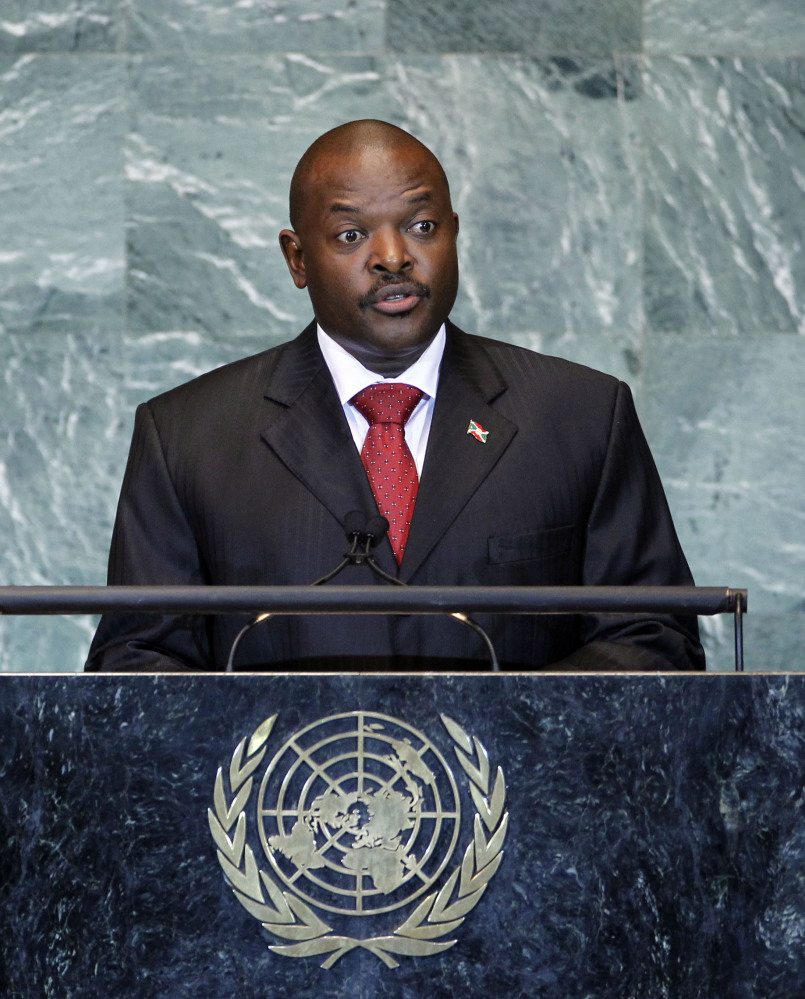 Burundi's President Pierre Nkurunziza addresses the 66th session of the United Nations General Assembly at U.N. headquarters in New York on Sept. 23, 2011.