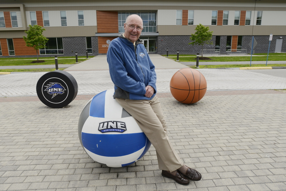 Athletic Director Jack McDonald in a July 2015 photo at UNE.