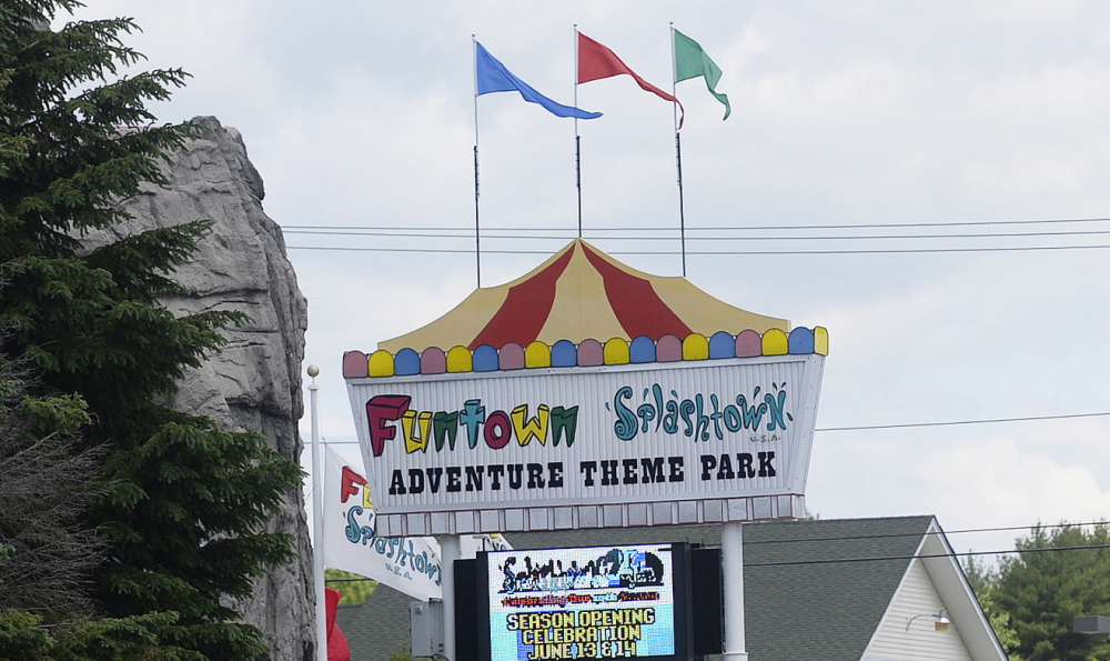 Funtown Splashtown USA in Saco says it has become the victim of mistaken identity after receiving a torrent of angry phone calls, emails, tweets and Facebook posts regarding an alleged bullying incident at a waterpark in Texas with a similar name.