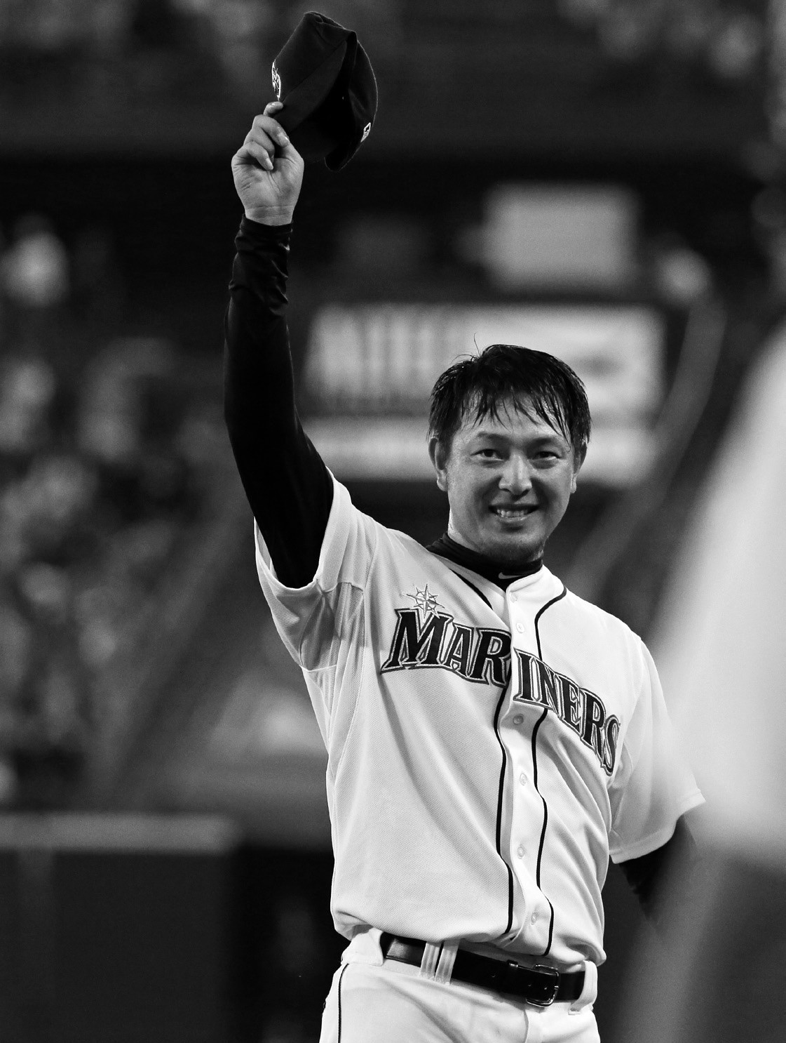 Seattle Mariners starting pitcher Hisashi Iwakuma tips his cap after he threw a no-hitter baseball game against the Baltimore Orioles Wednesday in Seattle.