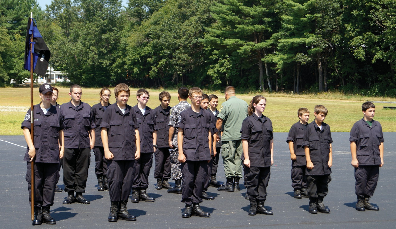It was inspection time for graduates of the Summer Youth Police Cadet Academy back in the summer of 2013. The program may get a financial boost Tuesday night, pending a vote of the City Council to transfer funds from an unused teen center account to the program.