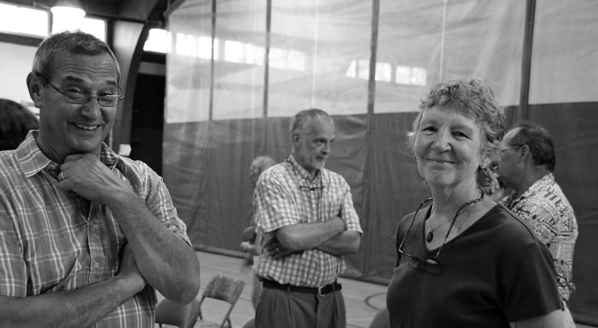 Jean Noon, right, of Springvale, shown chatting with Al Mastraccio, was nominated Monday by Democrats in House District 19 as their candidate for the Nov. 3 special election to fill the vacancy created by the death of her husband Bill Noon. Bob Frechette, also of Springvale, had also sought the Democratic nod. Noon will square off against GOP candidate Matthew Harrington. As well, Sanford City Councilor Victor DiGregorio is gathering signatures to make an independent run for the seat.