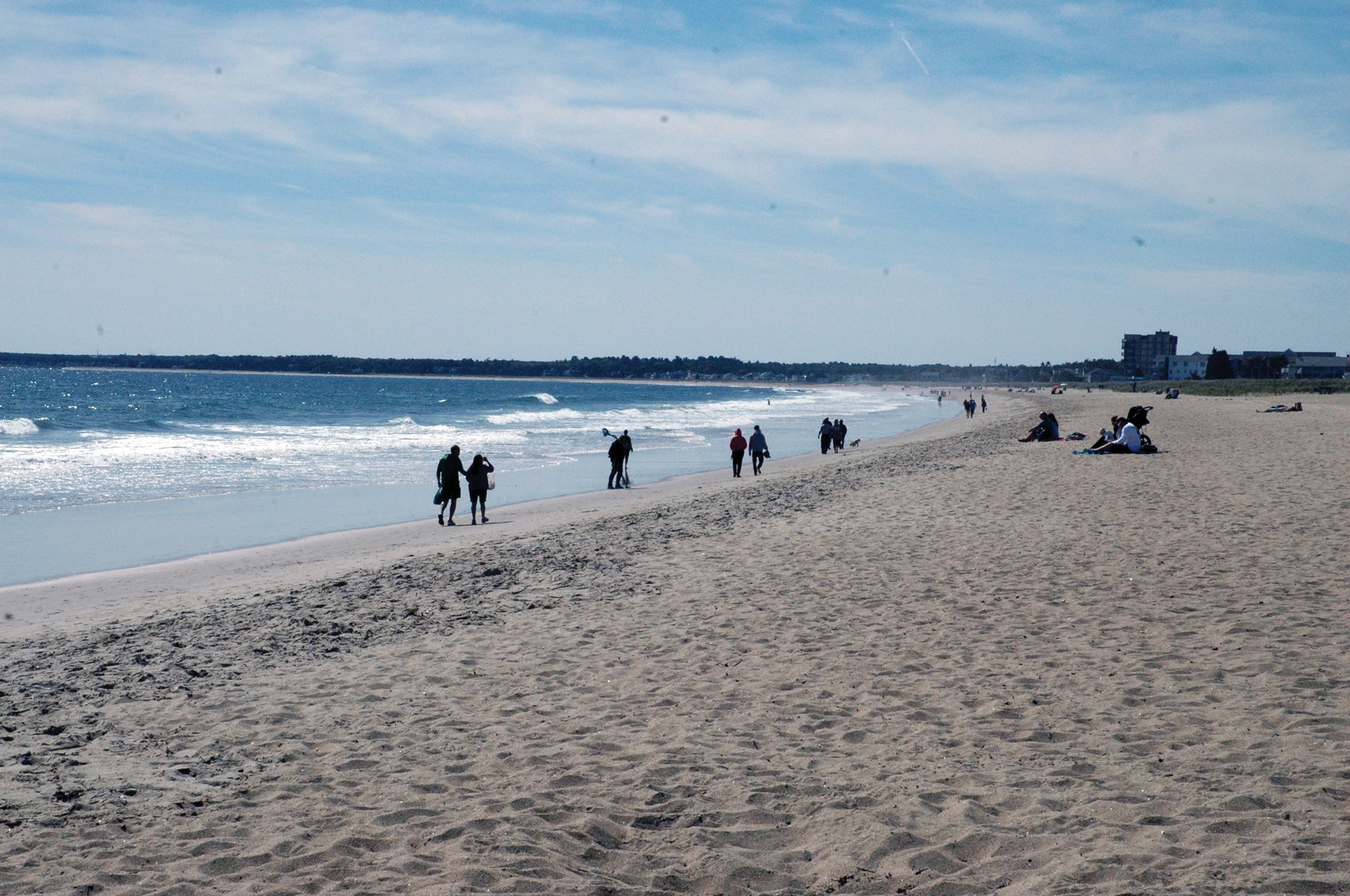 Old Orchard Beach is pictured Saturday. About 50 volunteers worked to remove trash from the beach Saturday for Maine Coastal Program's annual Coastweek coastal cleanup.