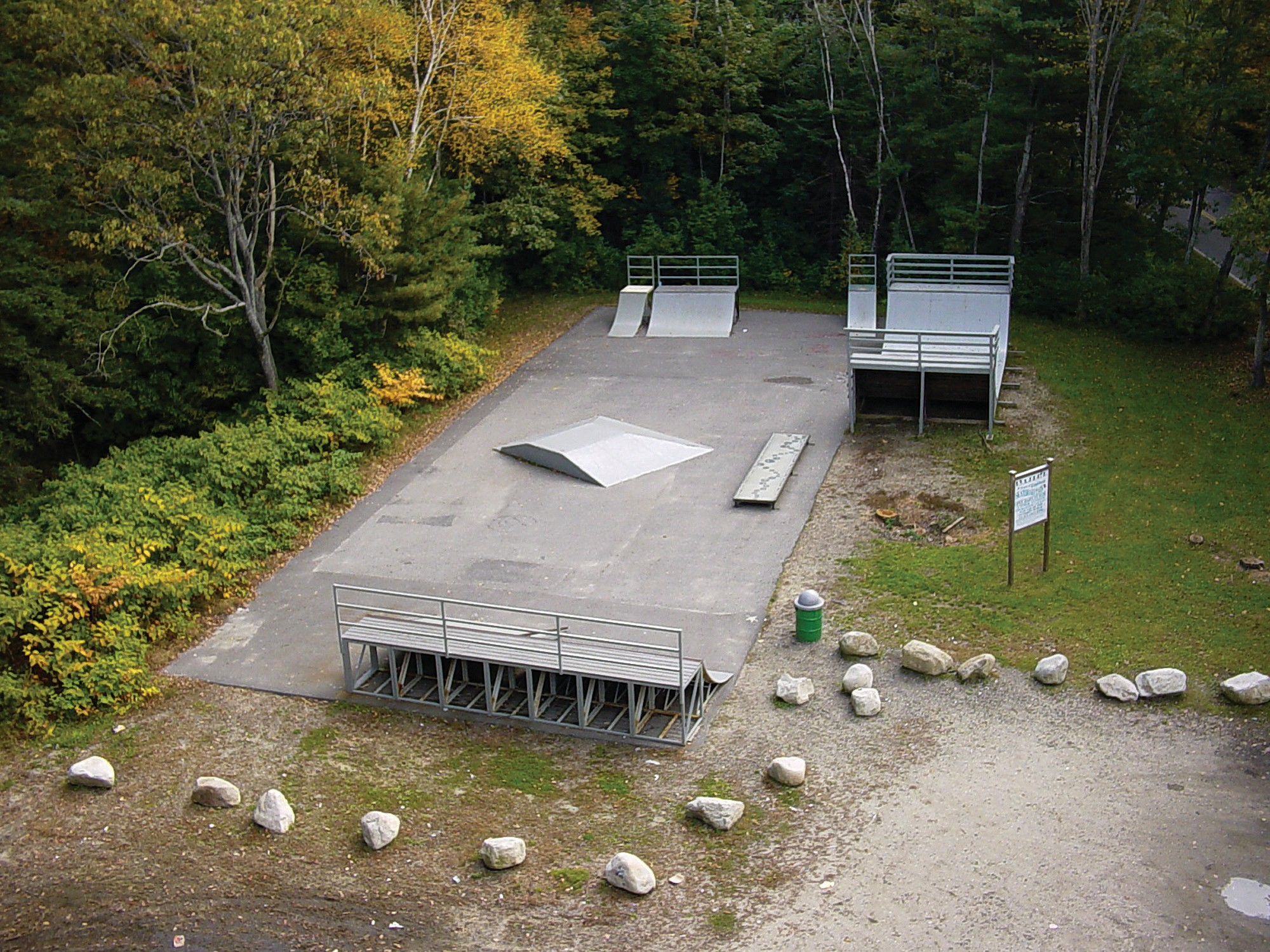 The skate park in Kennebunk, on Factory Pasture Lane, is pictured in this undated photo. Kennebunk Selectmen received $100,000 to improve the aging wooden ramps. However, voters turned down a proposal to build a new park in Parson's Field in June.