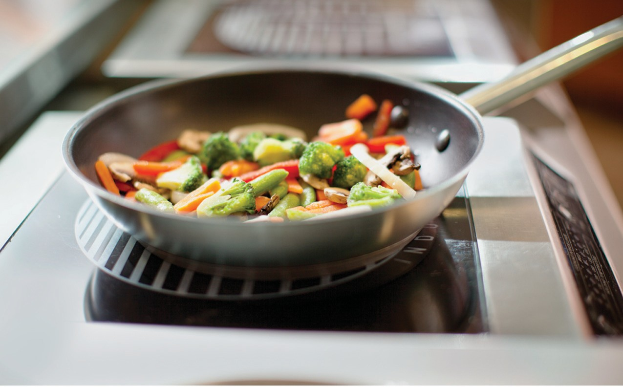 Using nonstick cookware when preparing your favorite meals can reduce reliance on oil or butter, cutting fat and calories from your diet.