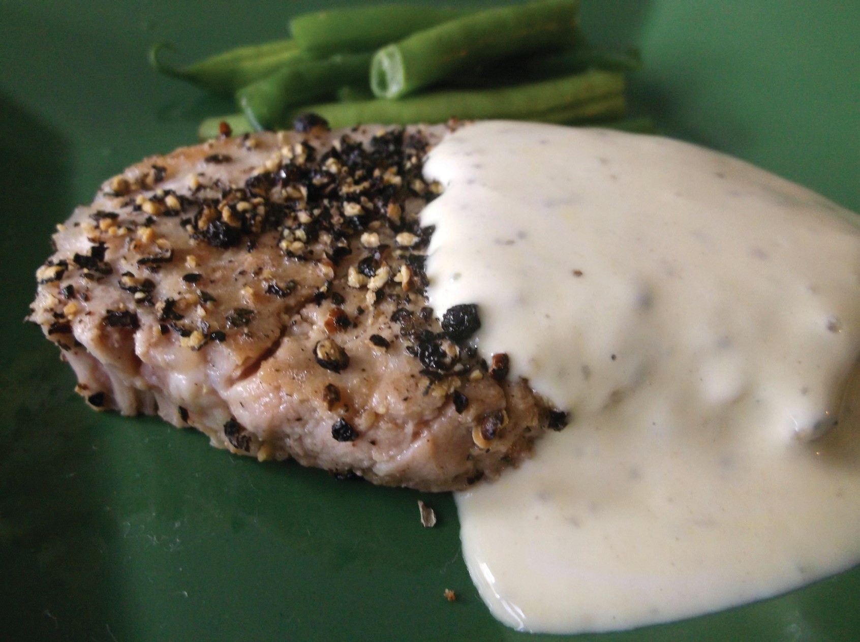 Quick, easy and delicious Peppered pork dish will be a family favorite.