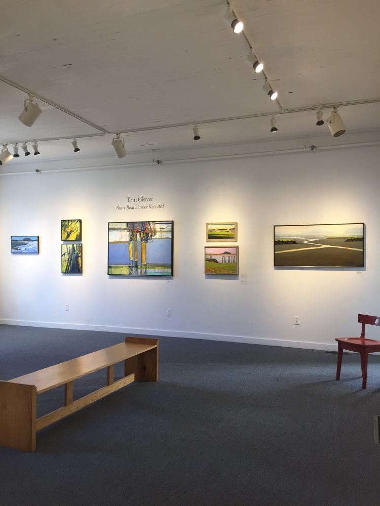 """Works by Tom Glover, above and below, from """"Brave Boat Harbor Revisited."""""""