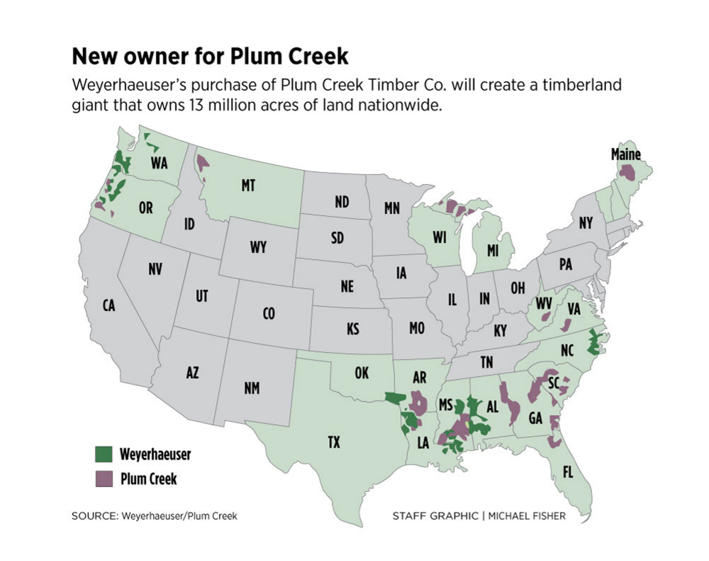 For now, few changes in Maine as major timberland owner Plum