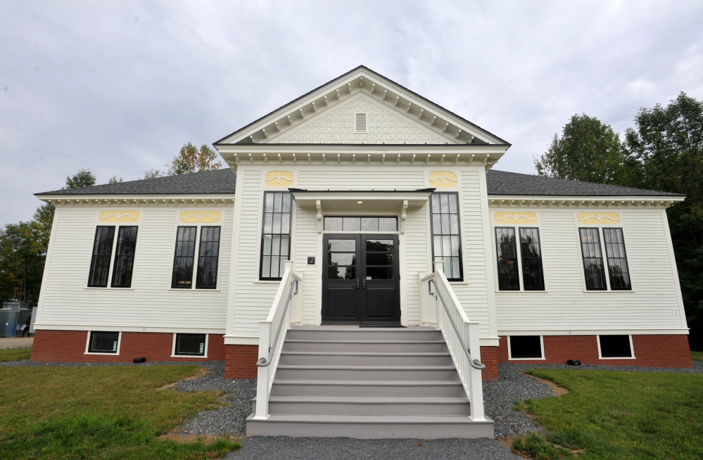 The Unity Food Hub on Main Street in Unity is shown in September. The renovation of the former schoolhouse, which had been empty for decades, was honored by Maine Preservation last week, one of 16 in the state recognized by the organization.