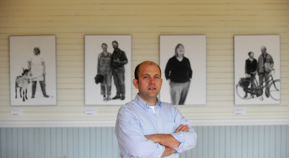 Matt Tremblay, general manager of the Unity Food Hub, stands in the newly renovated Main Street building in September in Unity.