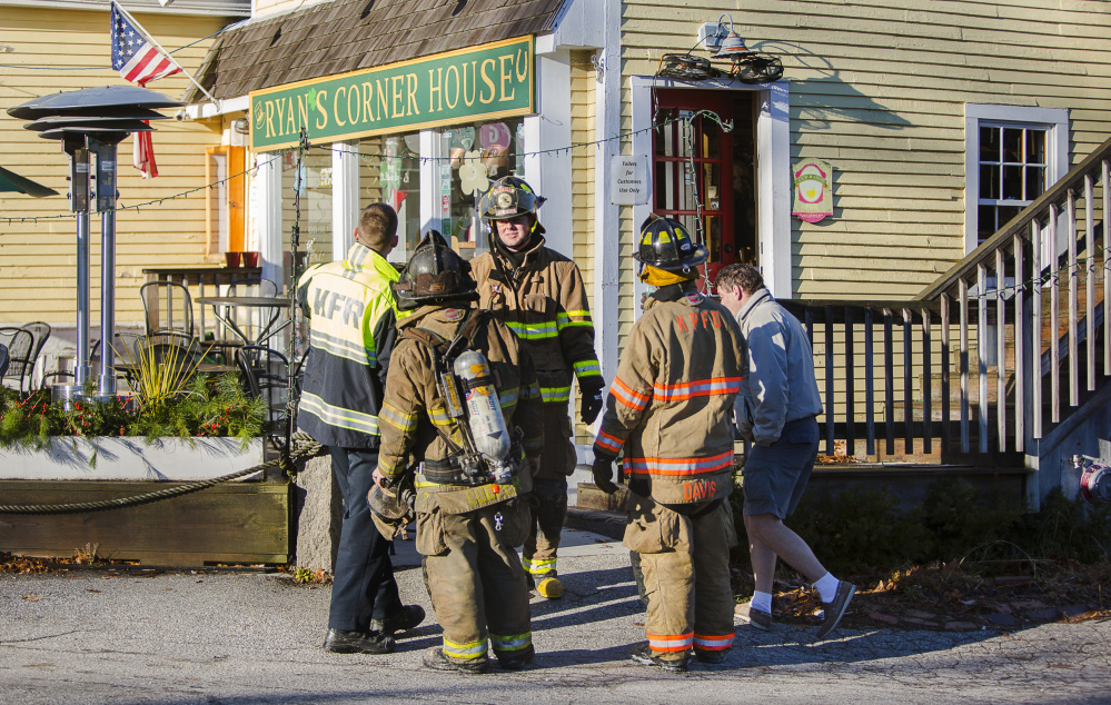 First responders were on the scene after a morning fire at Ryan's Corner House in Kennebunk. Route 9 was closed to traffic during the morning hours.