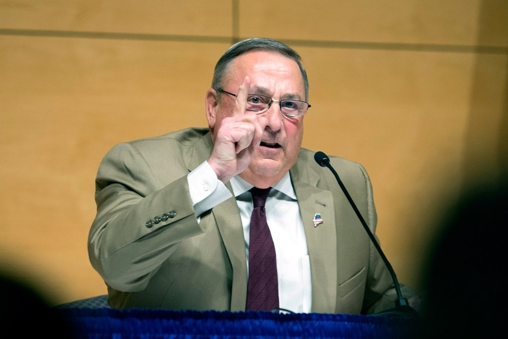 Gov. Paul LePage told the audience at his town hall stop in Portland that drug treatment does not work on heroin addicts. He said most of them wash out of state treatment programs, so the money is largely wasted.