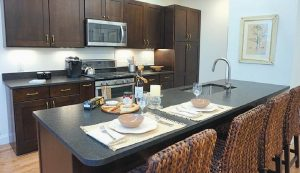 A SHOWROOM OF THE KITCHEN and bathroom concept for the condominiums is open for viewing at 143 Front. St. in Bath.