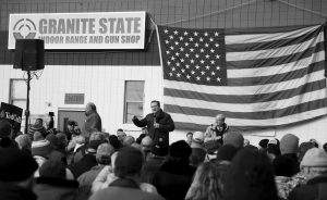 REPUBLICAN PRESIDENTIAL CANDIDATE SEN. TED CRUZ, R-Texas, speaks Tuesday during a campaign stop at Granite State Indoor Range in Hudson, New Hampshire.