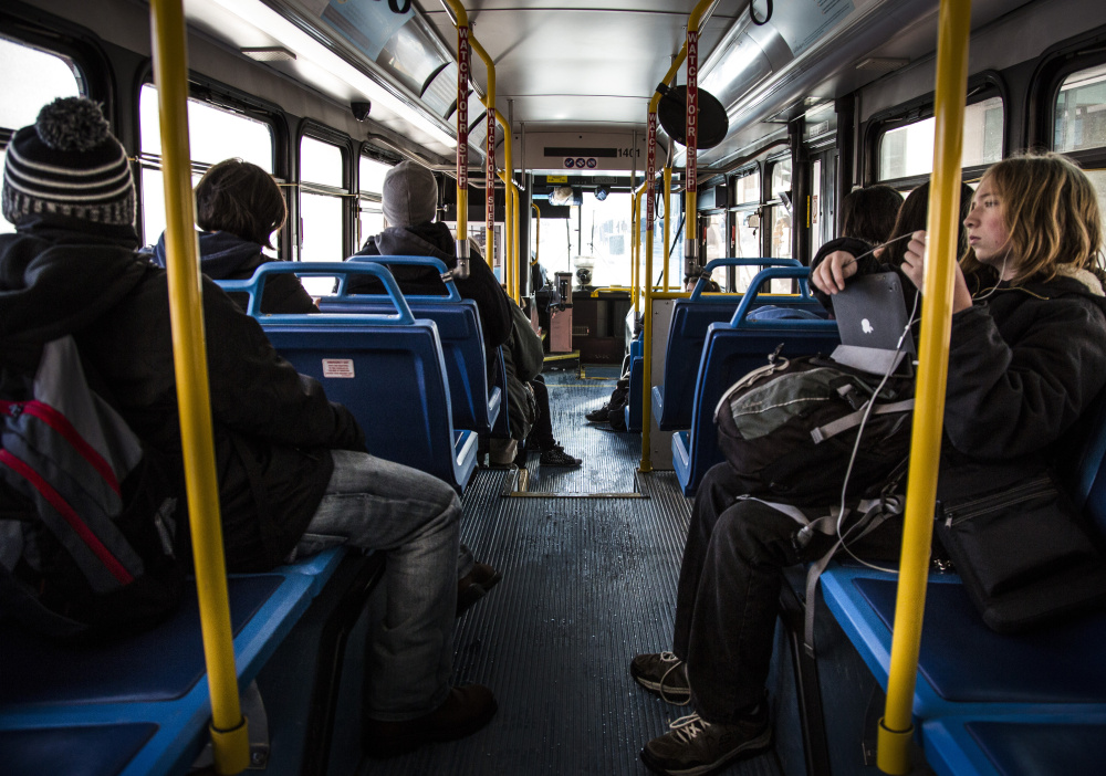 The new Route 9, which loops around Portland stopping at Portland, Deering and Casco Bay high schools, had so many student riders that buses had to be added.