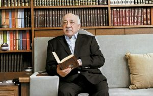"TURKISH MUSLIM CLERIC Fethullah Gulen, sits at his residence in Saylorsburg, Pennsylvania, United States. A U.S.-based Muslim cleric, who has become Turkish President Recep Tayyip Erdogan's chief foe, went on trial in absentia in Istanbul on Jan. 6 accused of attempting to overthrow the government by instigating corruption probes in 2013 that targeted people close to the Turkish leader. Gulen and 68 other people, including former police chiefs, have been charged with ""attempting to overthrow the Turkish republic through the use of violence,"" leading a terrorist organization and ""political espionage."" Prosecutors are seeking life imprisonment for Gulen and others."