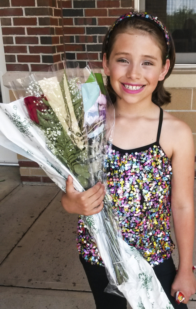 Lucy Tidd, after a dance recital this year in Portland Family photo