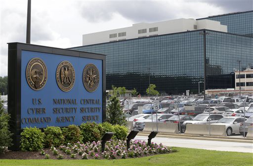This June 2013 file photo shows the National Security Administration (NSA) campus in Fort Meade, Md., where the US Cyber Command is located.