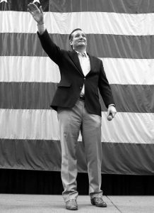 REPUBLICAN presidential candidate, Sen. Ted Cruz, R-Texas, waves as he is introduced at a campaign rally for Sen. Mike Lee, R-Utah, Saturday in Draper, Utah.