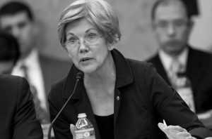 SEN. ELIZABETH WARREN, D-Mass. speaks on Capitol Hill in Washington. Warren labeled Donald Trump a loser, a bully and a threat on Monday, continuing a fierce war of words between the liberal icon and the front-running Republican presidential candidate that has played out on social media and The New York Times.